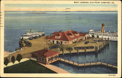 Boat Landing Old Point Comfort Postcard