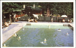 Jasper Park Lodge Swimming Pool Postcard