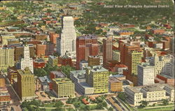 Aerial View Of Memphis Business District