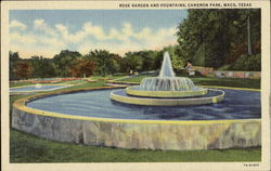 Rose Garden And Fountains, Cameron Park