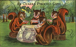 Squirrels: An Ozarks Pinochle Game Postcard