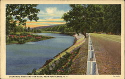 Chenango River And Tow Path