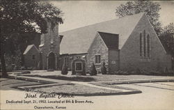 First Baptist Church, 8th & Brown Ave. Postcard