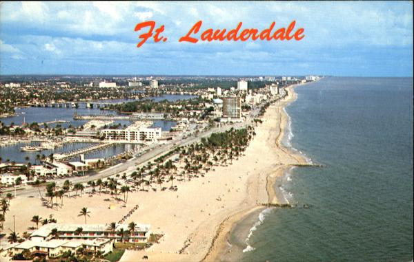 Air View Of The Venice Of America Ft. Lauderdale Florida