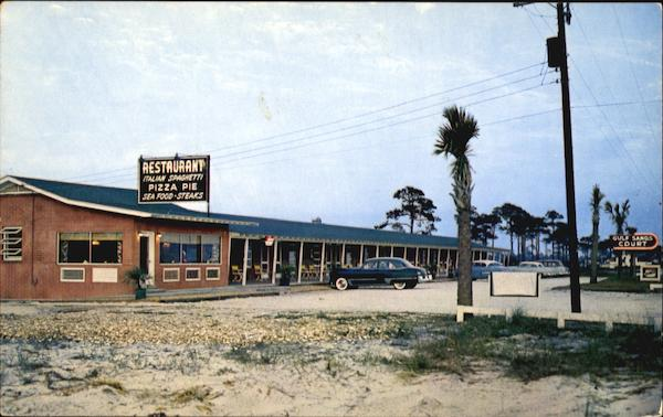 Gulf Sands Court And Restaurant Port St. Joe Florida