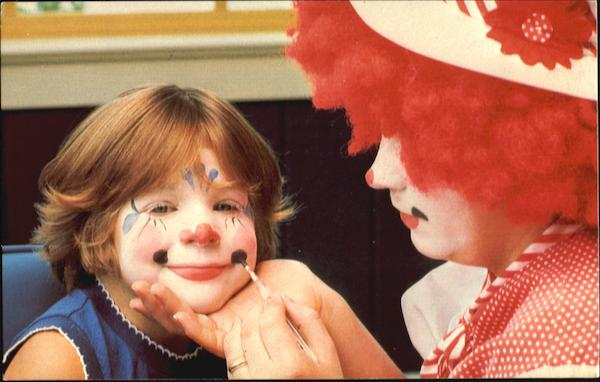 Clown Make-Up Circus World Florida Amusement Parks