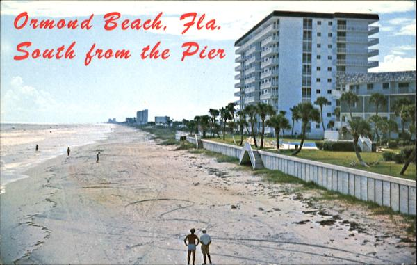Ormond Beach South From The Pier Florida