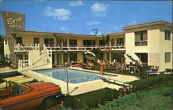 Egret Apartment Motel, 4220 Ocean Drive Postcard