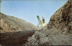 Strip Mining Shovel At Its Best Postcard