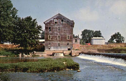 Old Stockdale Water Power Mill, 1 Mile West of Roann on State Rd. 16 Postcard