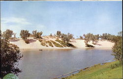 Marquette Lagoon And Dunes Postcard
