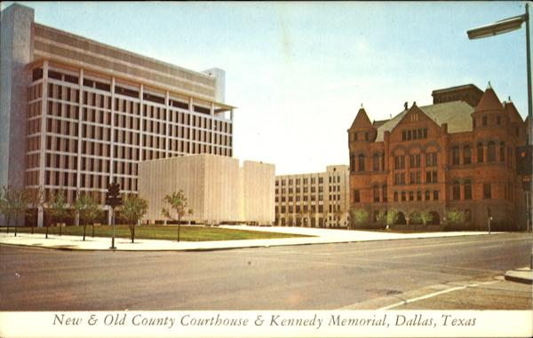 New & Old County Courthouse & Kennedy Memorial Dallas Texas