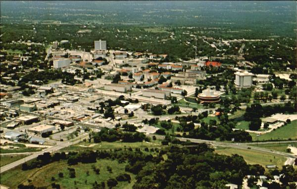 Aerial View Of Southwest Texas State University San Marcos