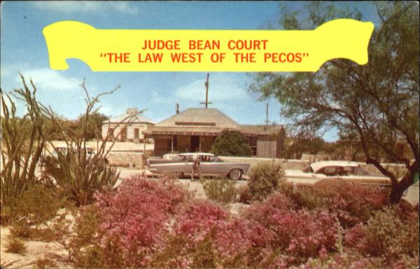 Judge Roy Bean's Law Office & Saloon Langtry Texas