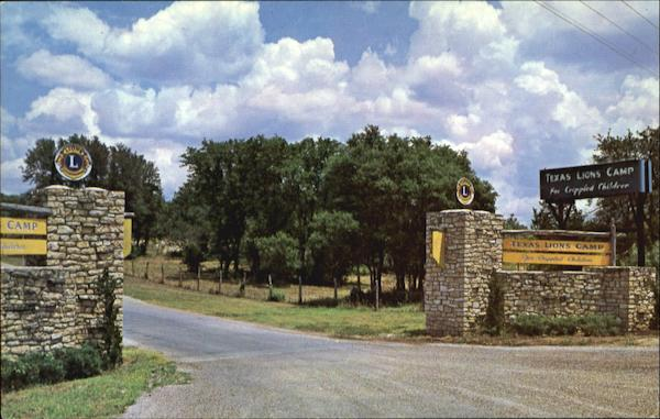 Entrance To The Texas Lion's Camp Kerrville