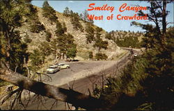 Smiley Canyon, U. S. hi-way 20 4 Miles West Postcard