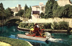 San Antonio Rive Through Downtown Postcard