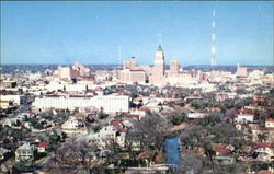 Skyline Of Beautiful San Antonio Postcard
