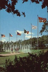 The Dancing Waters And Flags - Six Flags