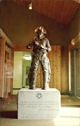Entrance Statue - Texas Ranger Postcard