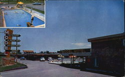 Model Motel, West Highway 66 Rt. 1 Postcard