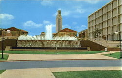 East Mall Fountain, University of Texas Postcard