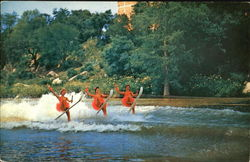 Women Waterskiing on Guadalupe River