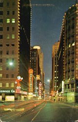 West Seventh Street At Night Postcard