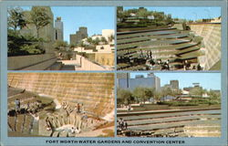 Fort Worth Water Gardens And Convention Center Postcard