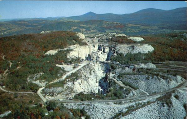 Aerial View Of Granite Quarries Barre Vermont