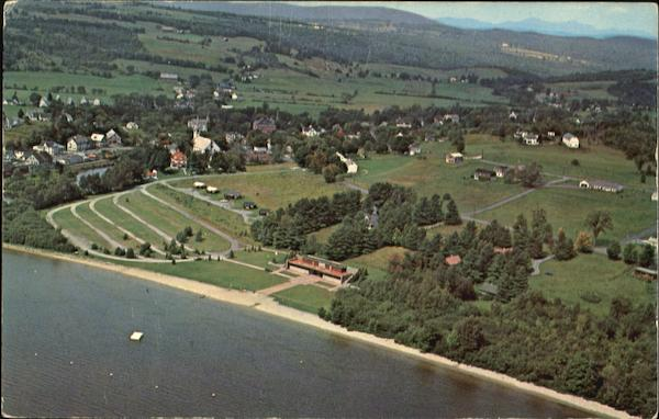 Aerial View Of Barton Vermont