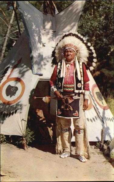 Chief Blow Snake In Full Ceremonial Dress Wisconsin Dells
