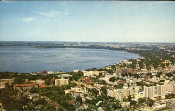Air View Of The University Of Wisconsin Madison