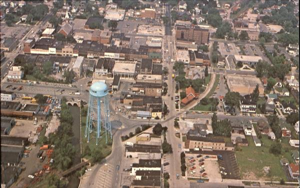 Aerial View Of The City Of Beaver Dam Wisconsin