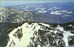 Aerial View Of The Top Of Spruce Peak Ski Area