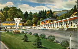 Maple Center Motel In Town, U. S. 2 and U. S. 5 Postcard