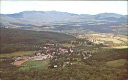 Aerial View Of Stowe And Mt. Mansfield