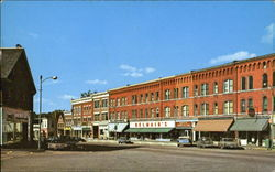 Looking North, Main Street Postcard