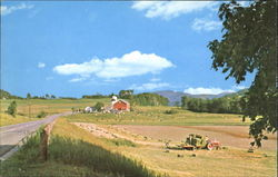 A Typical Vermont Farm Scene