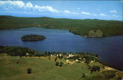 Aerial View Of Lake Bomoseen