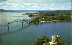 Aerial View Of Lake Champlain Toll Bridge