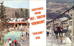 Swimming Pool And Chairlift, Mt. Snow Ski Area