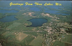 Aerial View Of Three Lakes