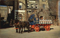 Pabst Blue Ribbon Brewery Wagon Postcard