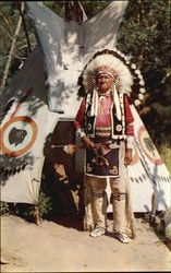 Chief Blow Snake In Full Ceremonial Dress