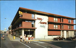 Town/Campus Motel, State at Frances St. Postcard