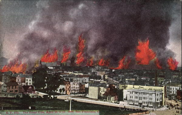 The Great Fire San Francisco California