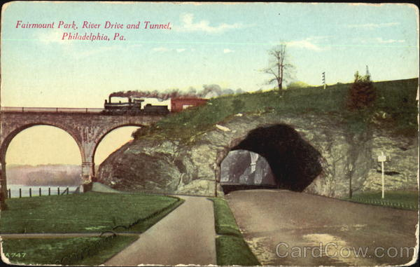 River Drive And Tunnel, Fairmount Park Philadelphia Pennsylvania