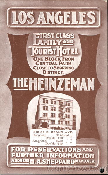 The Heinzeman Hotel Los Angeles California