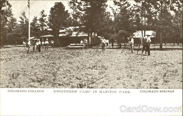 Engineers' Camp In Manitou Park, Colorado College Colorado Springs